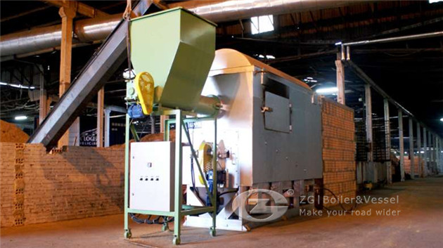 steam boiler for tannery production image