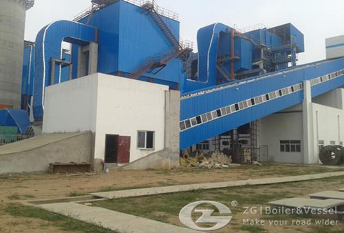 Biomass fired boiler for power plant image