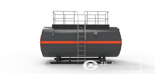 Oil and gas boiler for paper mill image