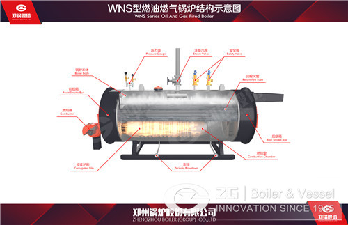 Oil and gas hot water boiler