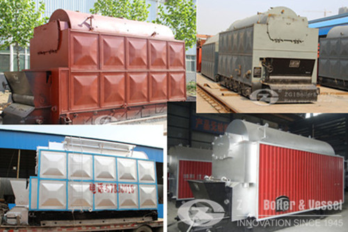 Biomass steam boiler for paper making machine