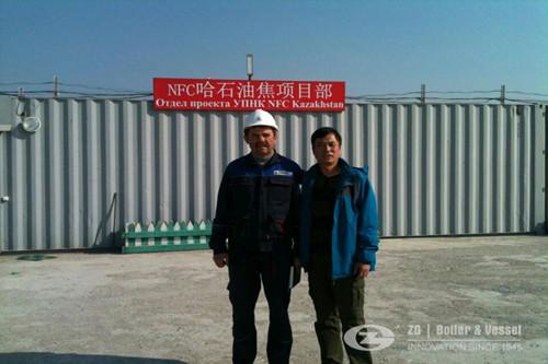 Kazakhstan 35 ton waste heat boi image