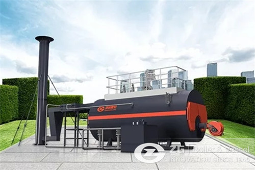 Horizontal steam boiler in south image
