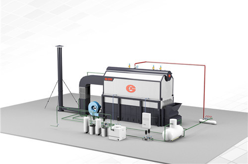 15 ton package biomass boiler in image