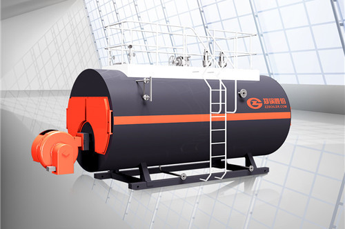 3 ton horizontal oil gas steam boiler for a Indonesia food factory image