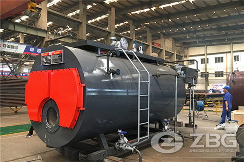 5 ton natural gas steam boiler for a tea factory image