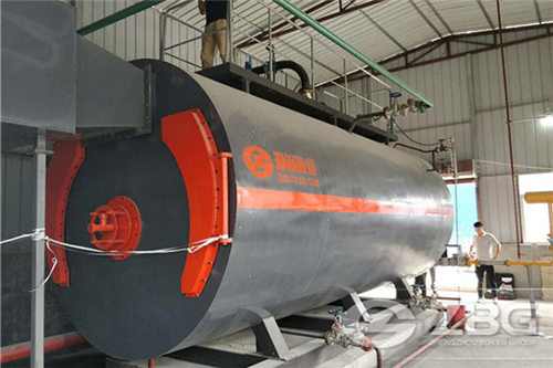 6 t/h gas steam boiler in Iran image