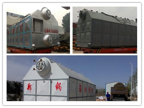 Horizontal biomass fired boiler