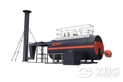 Horizontal fire tube boiler image