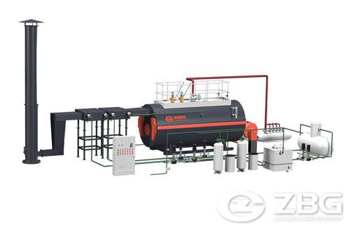 Horizontal oil fired boiler image