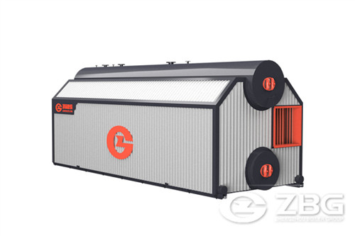 Horizontal biomass fired boiler image
