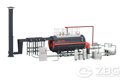 1 ton oil gas steam boiler details image
