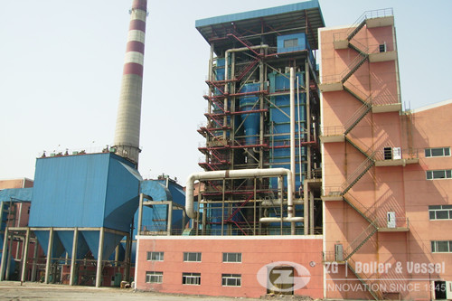 150 ton circulating fluidized bed boiler installation