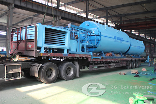 oil gas steam boiler for fishing processing