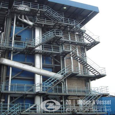 CFB fired tube horizontal boiler