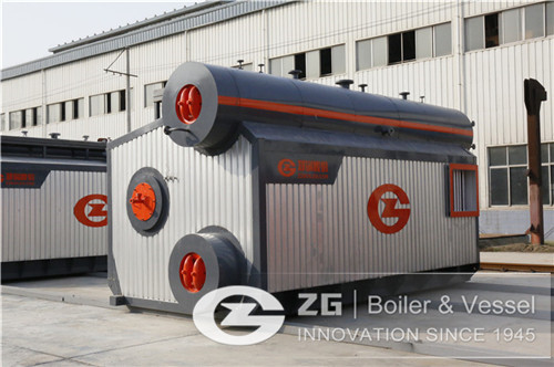 Oil and gas water tube boiler