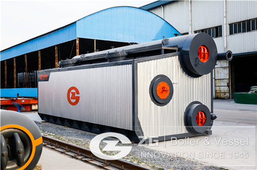 Water tube boiler for cocoa factory