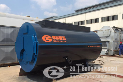 WNS oil gas fired horizontal steam boiler