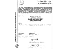 ASME S Certification Coal convert to natural gas plant projects in utility industry